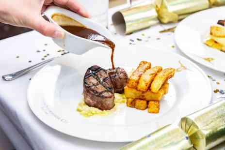 Marco Pierre White London Steakhouse Co - Three Course Christmas Dining Experience and Cocktail for Two - Save 0%