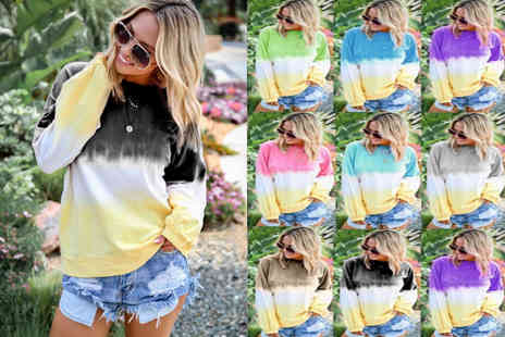hey4beauty - Tie Dye Jumper Choose from 9 Colours - Save 70%