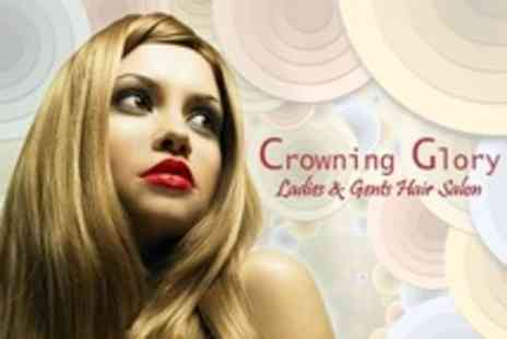 Crowning Glory Hair - Half Head Highlights With Cut and Finish - Save 54%