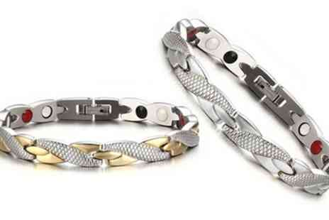 Groupon Goods Global GmbH - Womens Sacnite Magnetic Bracelet - Save 67%