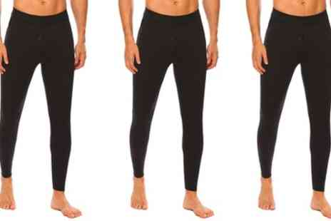 Groupon Goods Global GmbH - Three Pack of Mens Fleece Lined Leggings - Save 0%
