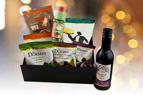 KNPH - Christmas hamper including wine, luxury Bombay mix, crackers, nuts and more - Save 65%