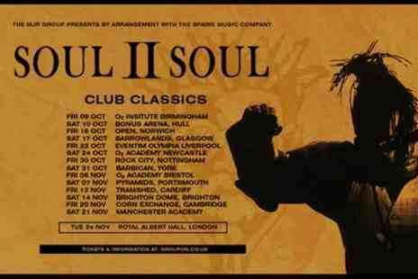 Soul II Soul - One general admission ticket from 9th October To 21st November 2020 - Save 17%