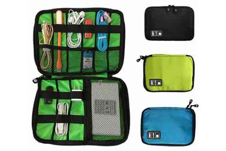 WowWhatWho - Travel cable organiser choose from three colours - Save 75%