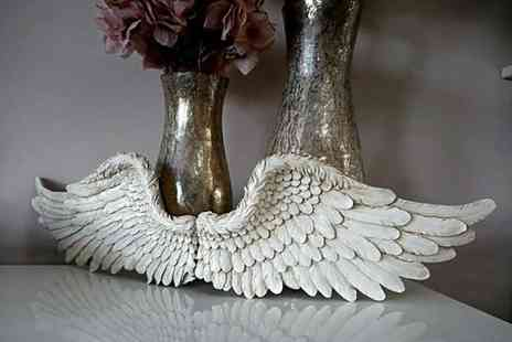 Garden Mile - Vintage style angel wings ornament - Save 0%