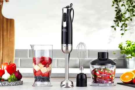 CJ Offers - Cooks Professional 1000W 3 in 1 handheld stick blender - Save 53%