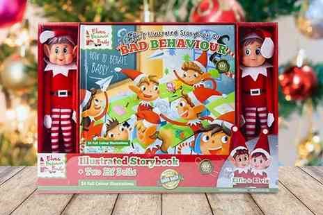 Pricebuster - Elf hardback book set with two dolls - Save 63%