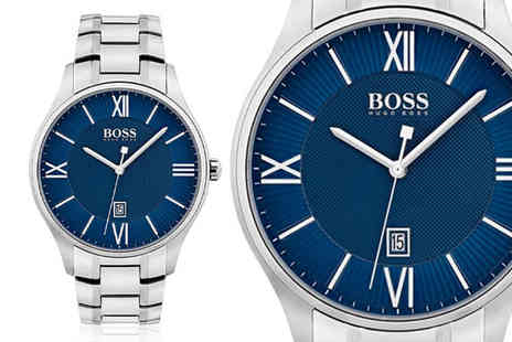 Best Watch Company - Hugo Boss mens governor stainless steel watch - Save 63%