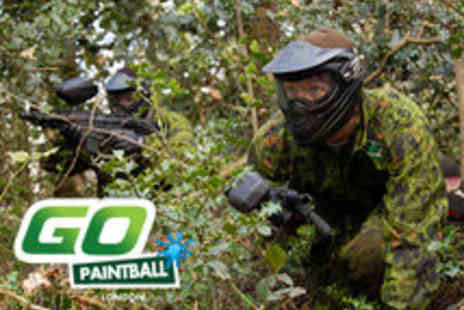 GO Paintball - Go Paintball Day including Full Equipment, 100 Paintballs and Lunch - Save 50%