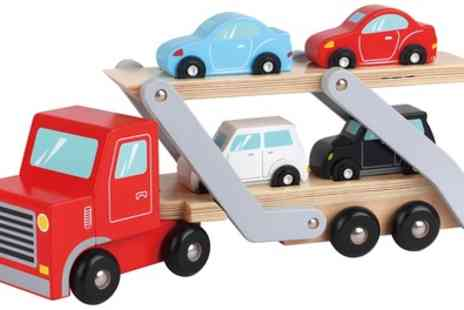 Groupon Goods Global GmbH - Lelin Six Piece Wooden Carrier Truck Toy Set - Save 0%