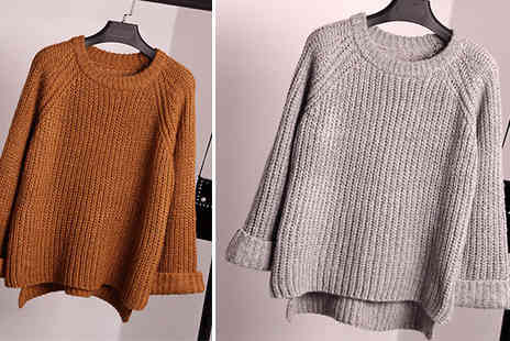 Aha Trading - One Size Knitted Jumper Choose from 4 Colours - Save 81%