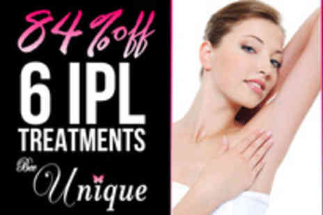 Bee Unique Hair and Beauty - Looking for smooth hair free skin Six sessions of IPL hair removal - Save 78%