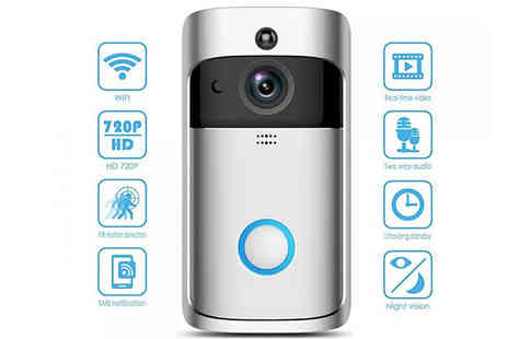 SecretStorz - 3 in 1 Smartphone Connected Video Doorbell With Intercom Choose from 2 Colours and Optional SD Card - Save 84%