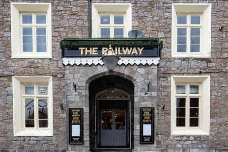 The Railway Inn - Two course dining for two with a gin and tonic each - Save 53%