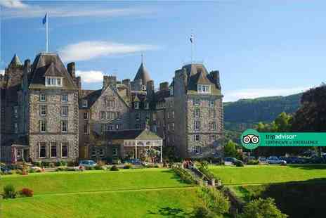 Atholl Palace Hotel - Four Star Overnight luxury Scottish getaway for two people with breakfast, three course dinner with a glass of wine and full leisure access - Save 53%